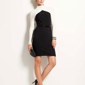 Ann Taylor Mock Turtleneck Sweater Dress
